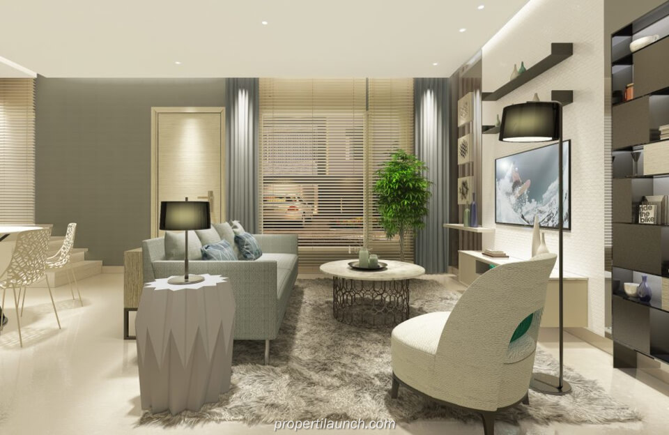 Interior Design Living Room Rumah Savasa Panasonic Tipe 7x12