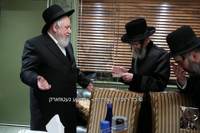 """אדמו""""ר מ'סקולען ביים יערליכן מסיבה לטובת מוסדות חסד לאברהם"""