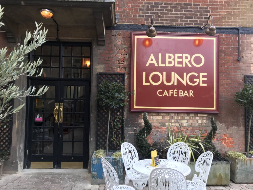 The courtyard of The Albero Lounge, Bedford