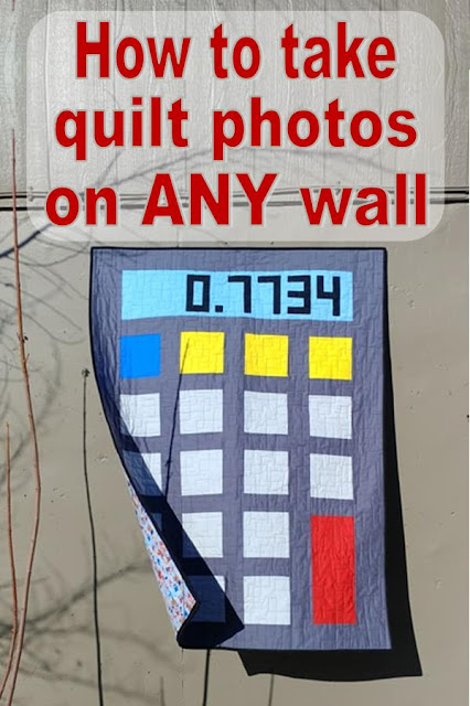 How to take quilt photos on any wall