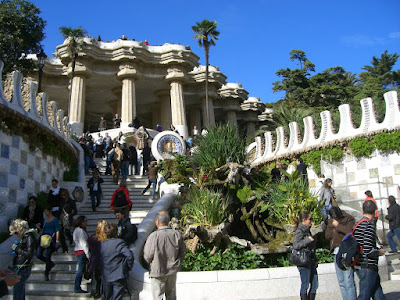 Main entrance to Park Güell in Barcelona