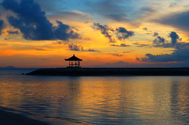 Sunset di Pantai Sanur Bali