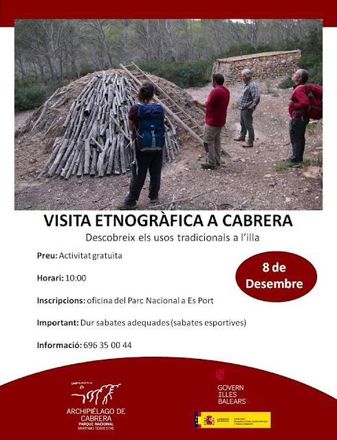 cartel visita a Cabrera Baleras Natura