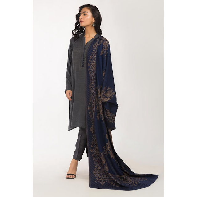 ready to wear Grey color viscose suit winter collection