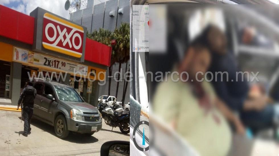 Ejecutan a un Policía Federal y a su acompañante afuera de un Oxxo en Ciudad Victoria; Tamaulipas