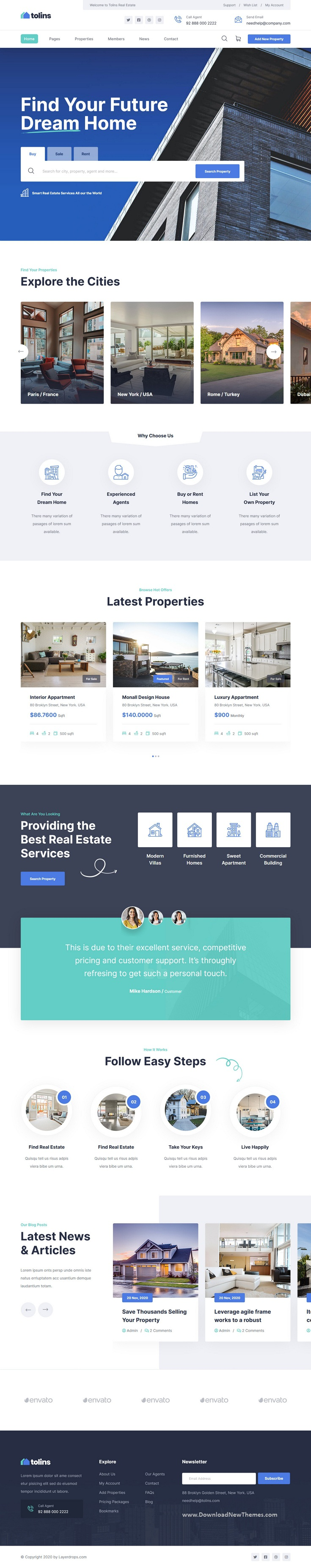 Real Estate Business HTML Template