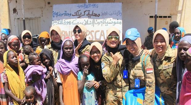 Satgas Yonkomposit TNI Gelar Bakti Sosial di Sudan