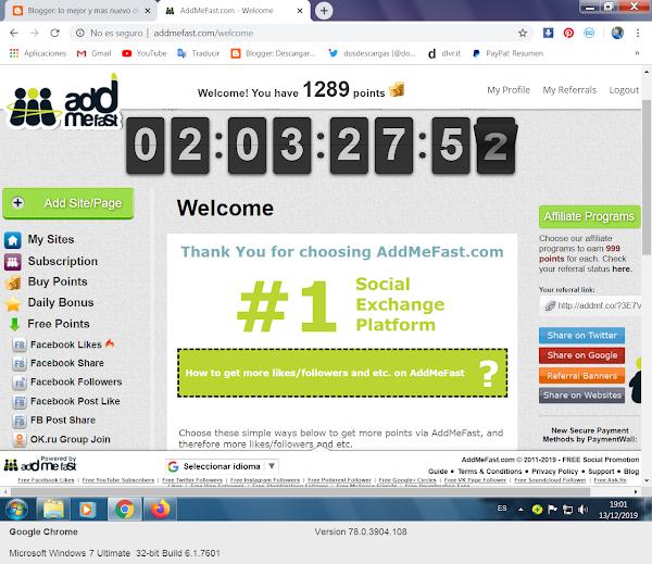 Forma efectiva de ganar seguidores en redes sociales con AddMeFast 2019