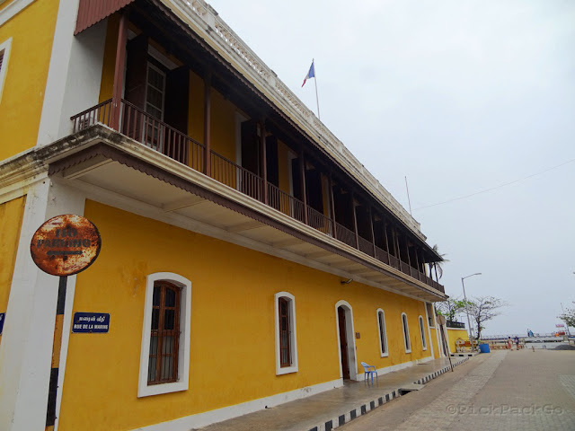 """rue de la marine"" - French consulate - Pondicherry India- Pick, Pack, Go"