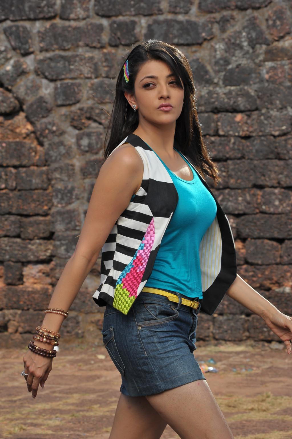 Actress Kajal Agarwal Hot,Businessman Telugu Movie Heroine -3878