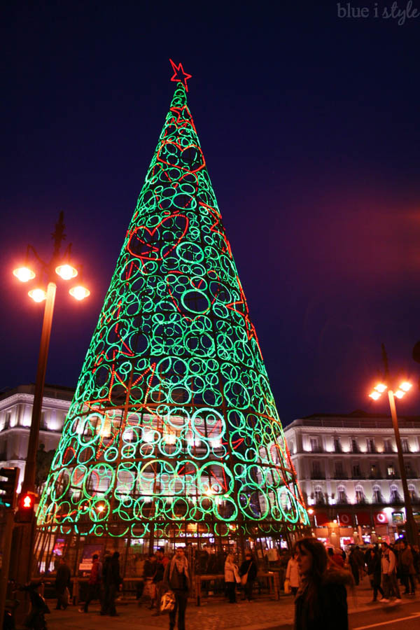 Madrid Puerta del Sol Christmas Tree