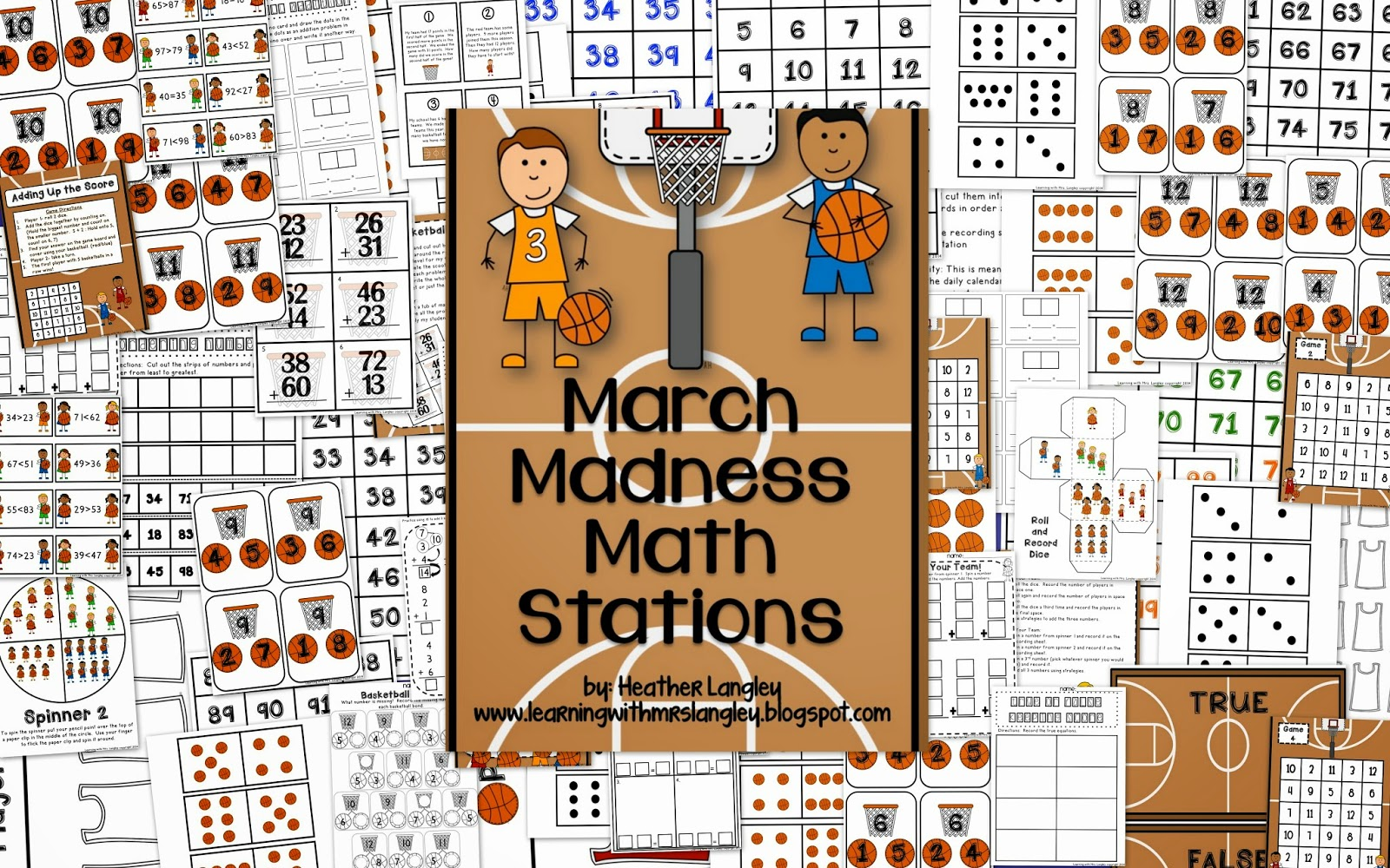 Learning With Mrs Langley March Madness Math Stations