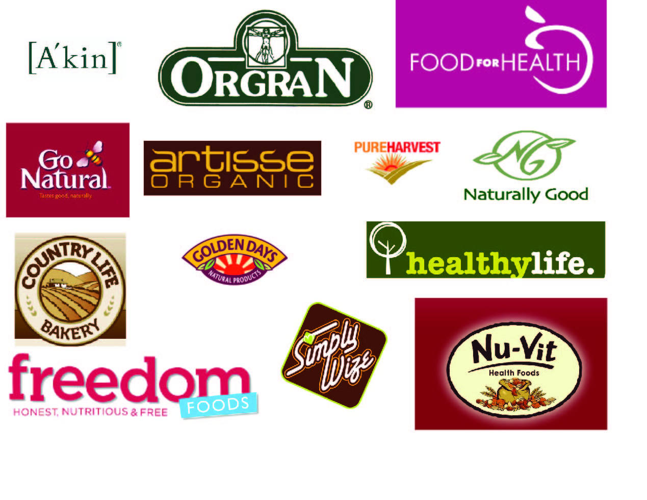 Identity Systems: Health Food Logos