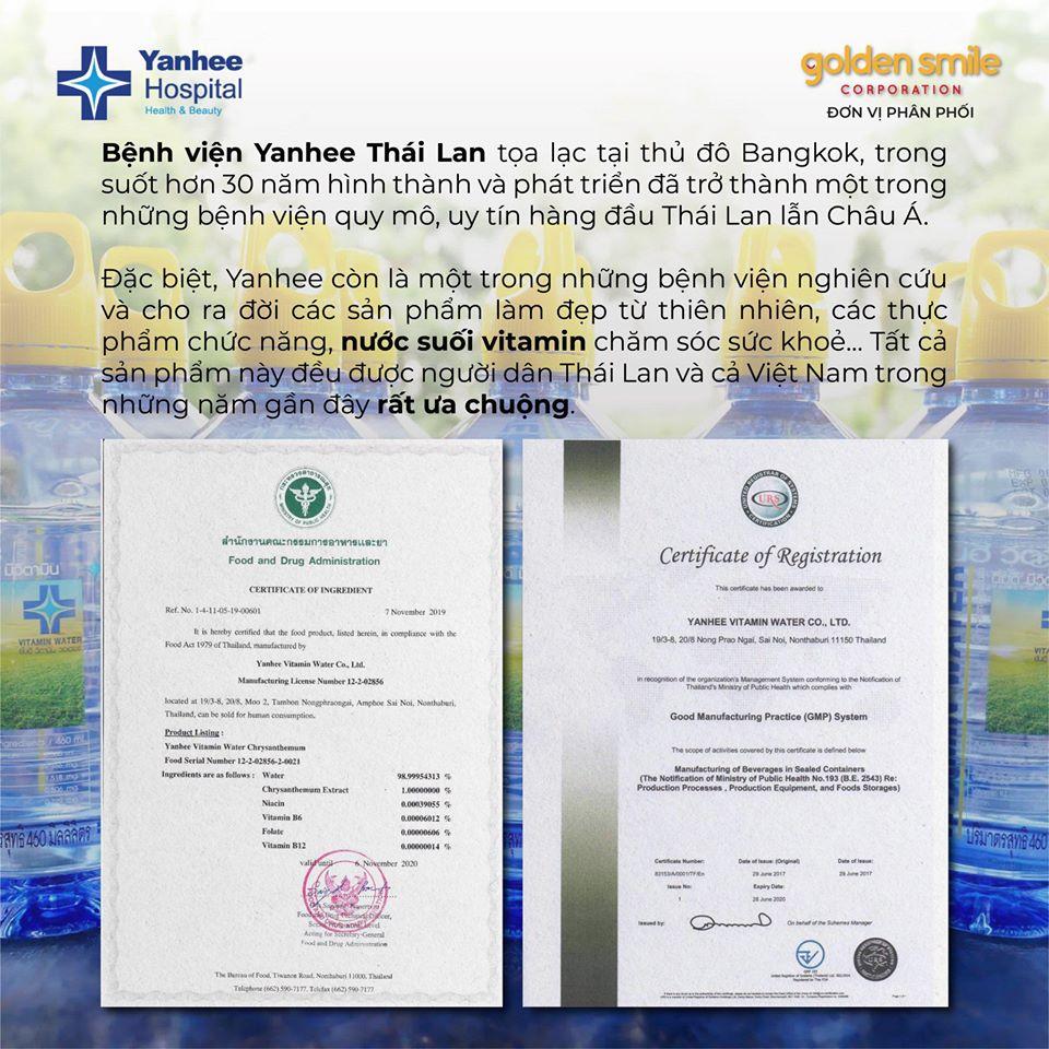 Giấy chứng nhận tiêu chuẩn chất lượng của Bộ Y Tế Thái Lan