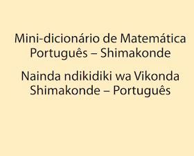 Ensino bilíngue dicionário de Matemática Português – Shimakonde