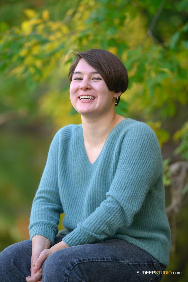 Skyline High School Girls Senior Pictures in Nature Fall Colors SudeepStudio.com Ann Arbor Senior Portrait Photographer