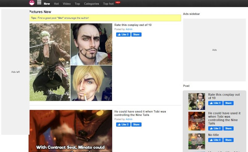 Mẫu Giao diện blogspot Anime