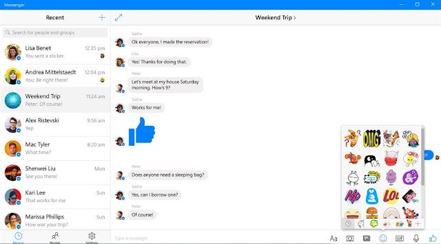يدعم تطبيق فيسبوك ماسنجر لسطح المكتب الآن المقاطع الصوتية