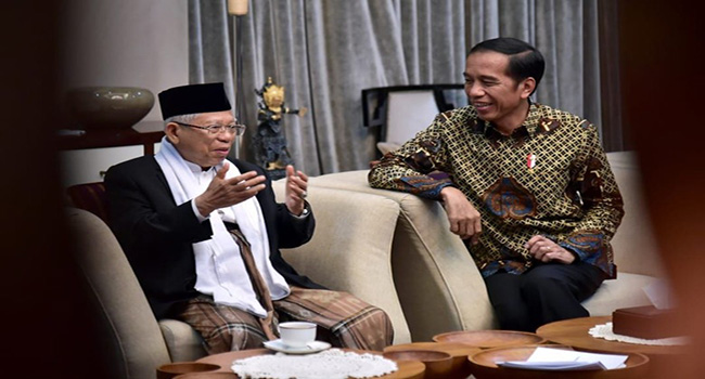 Bertemu Di Istana, Jokowi-Ma'ruf Berbicara Tentang Kebangsaan