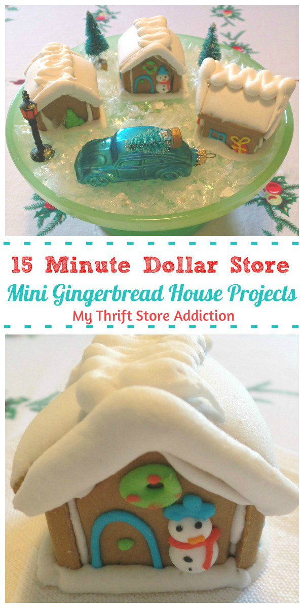 Mini gingerbread house holiday projects