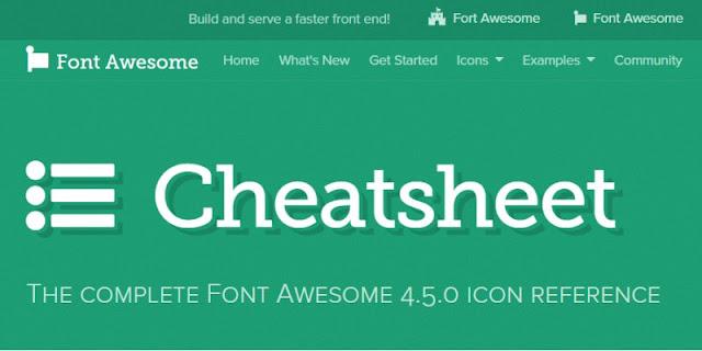 使用 Font Awesome 圖示速查表(cheat sheet), 安裝快速不麻煩
