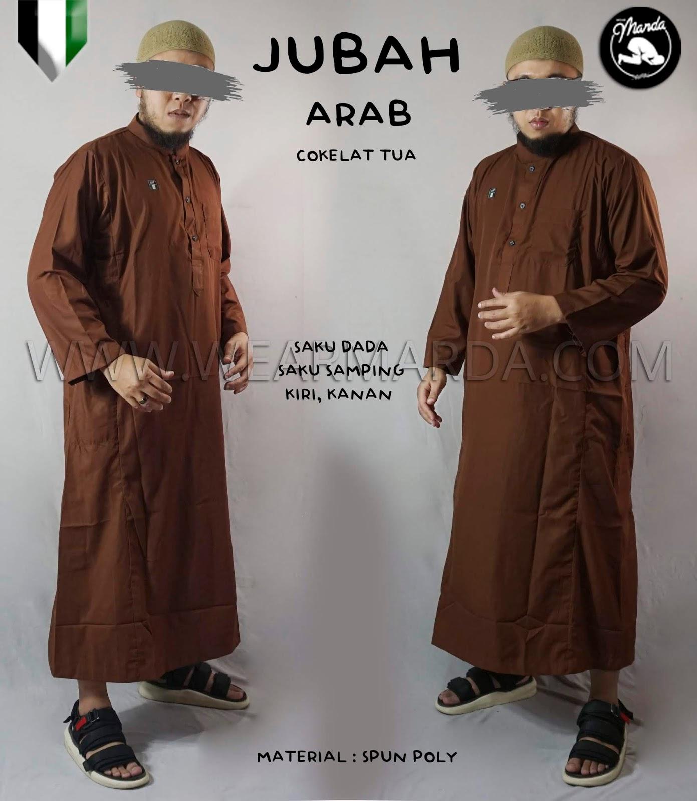 JUBAH ARAB COKELAT TUA