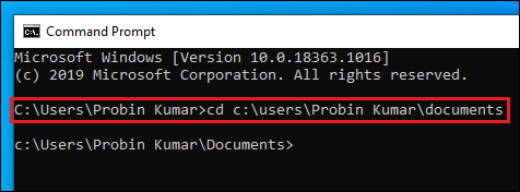 List of files in a Folder in Windows