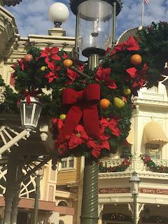 Magic Kingdom dressed up for Christmas