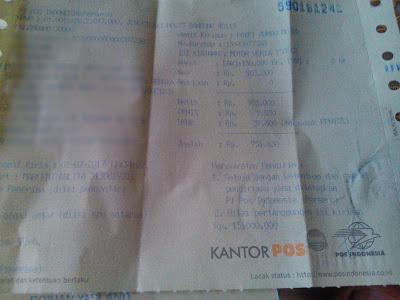 biaya kirim motor dari palembang ke jakarta via pt pos