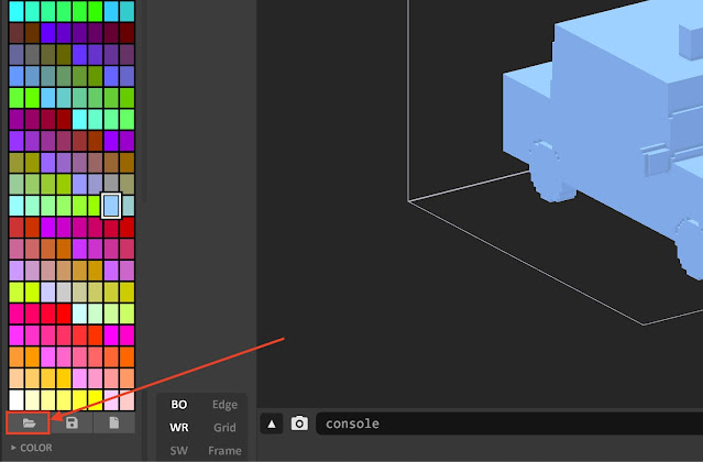 Import your own color palette into MagicaVoxel