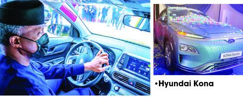 Osinbajo test-drives Nigerian-assembled Hyundai Kona EV
