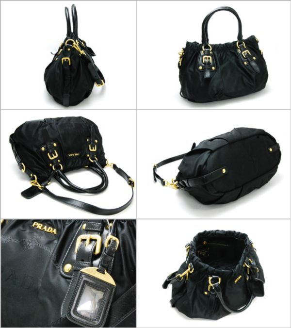e4fc432ca0f0 PRADA NYLON JACQUARD TOP HANDLE TOTE (BR4259)