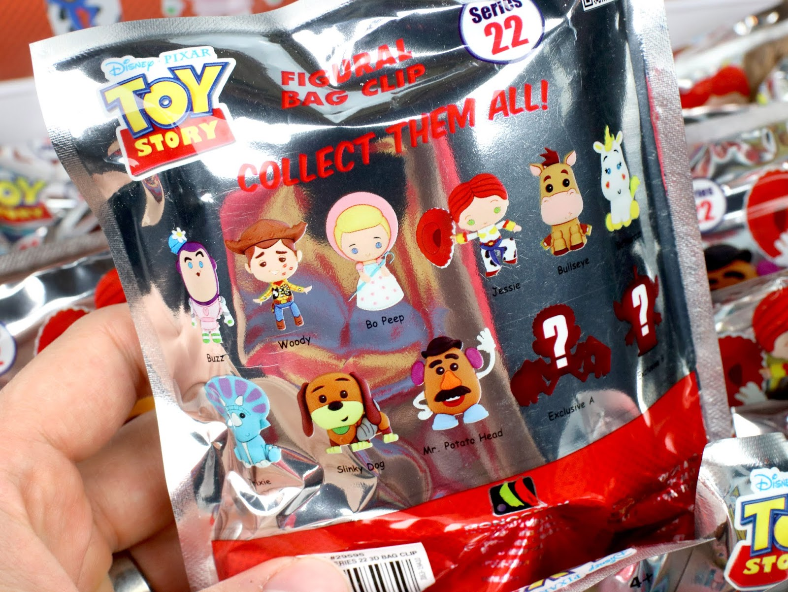 monogram toy story figural bag clips blind bags