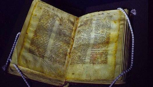 Manuscrito antiguo de Jesús y María Magdalena