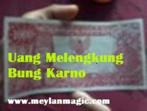 uang,kuno,bung karno,melengkung,bergulung