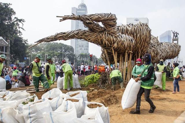 Instalasi Bambu Getih Getah Dibongkar, Warga Sayangkan Rp 550 Juta Hanya untuk 11 Bulan
