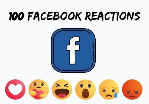 Buy 100 Facebook Emoji Emoticons Reactions Likes