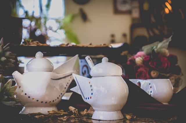 Conjunto de Chá de cerâmica