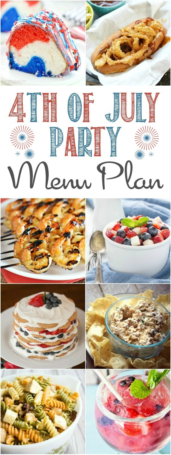 The Best 4th of July Menu plan