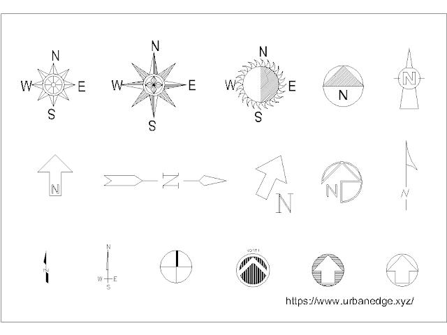15+ North Arrow Dwg - North symbol free cad block download