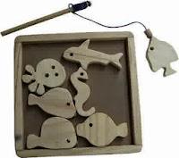 Mainan edukasi balita pancingan natural
