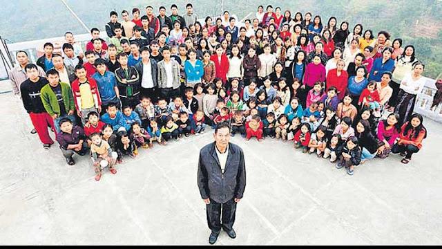 दुनिया के सबसे बड़े परिवार के साथ मिजोरम के व्यक्ति का 76 साल की उम्र में निधन