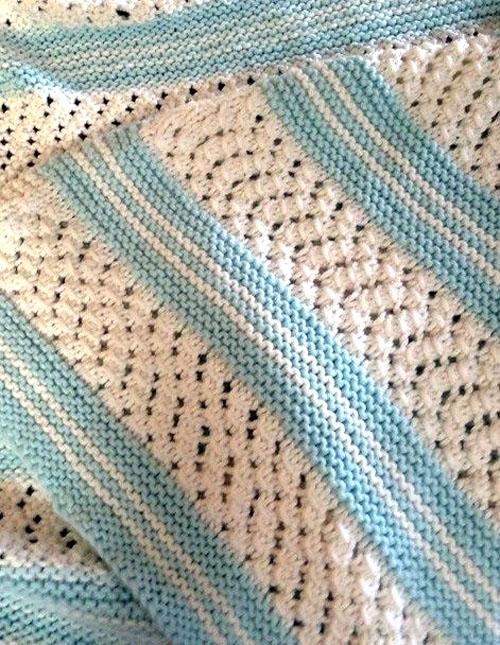 Knit Garter Stripe Baby Blanket - Free Pattern
