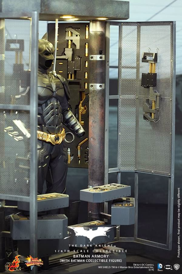 mise en situation hot toys batman