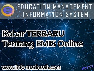 EMIS Online masih tetap berjalan penggarapannya bagi seluruh madrasah di Indonesia Kabar TERBARU Tentang EMIS Online, NISN Otomatis di EMIS Online