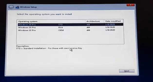 تثبيت Windows 10