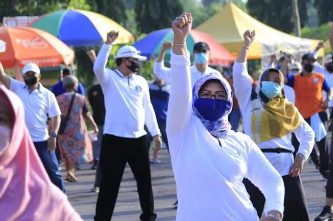 Walikota Madiun Terapkan Protokol Kesehatan Saat Buka Sunday Market