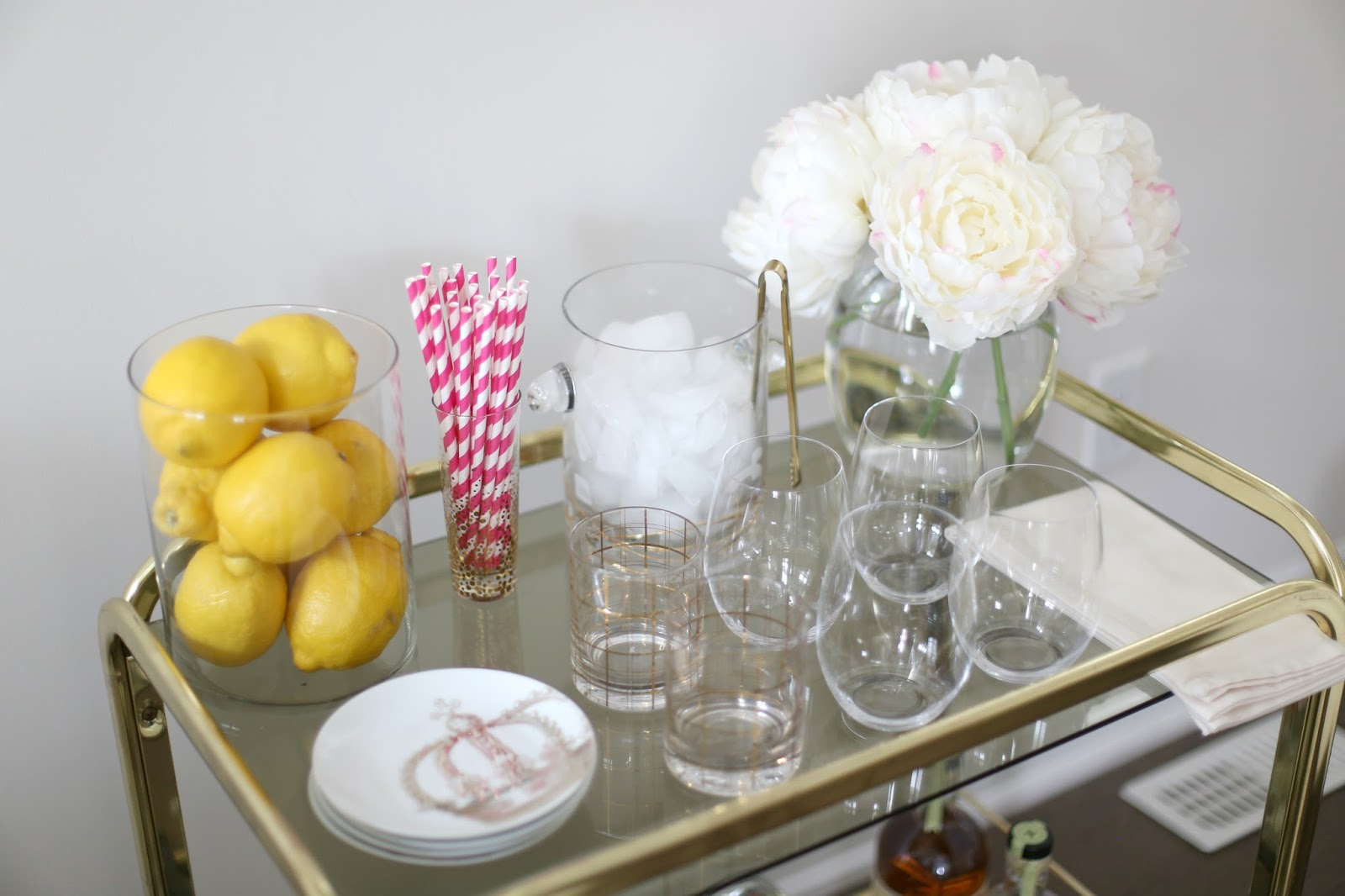 Bar cart styling with pier 1 imports suburban faux pas appetizer plates crown appetizer plate set co pier 1 imports stackable wine rack co pier 1 imports bucket golden waves ice bucket and tong co pier reviewsmspy