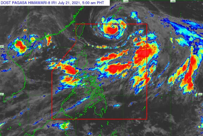 Satellite image of Tropical Storm 'Fabian' as of 5:00 am, July 21, 2021