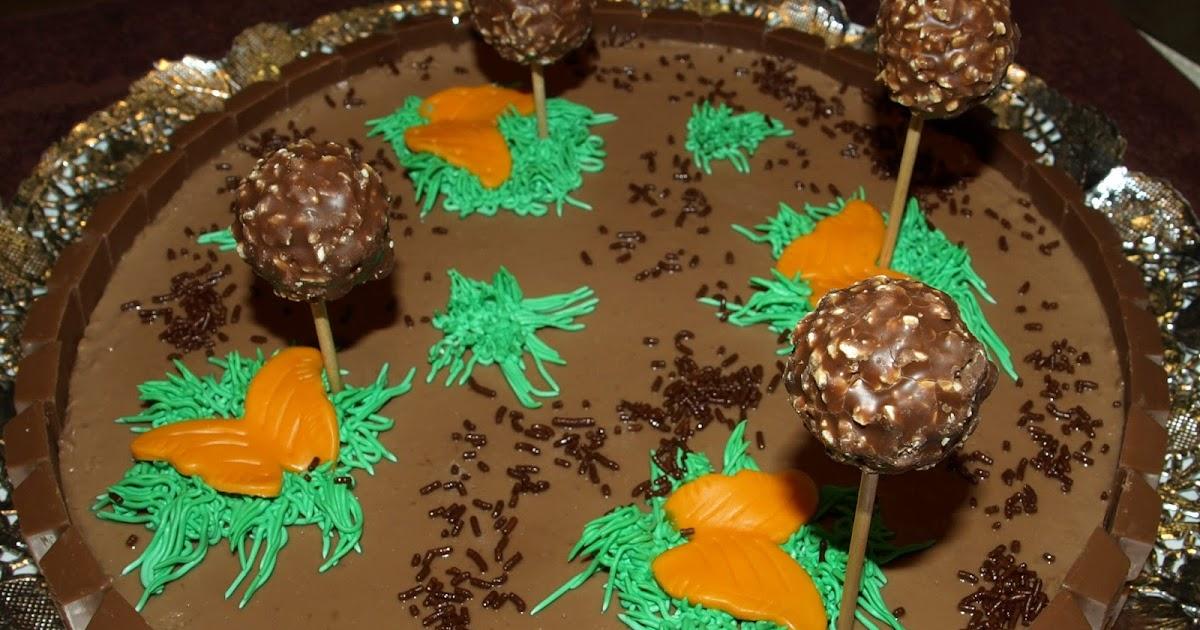 Tarta Tres Chocolates Decorada Con Fondant